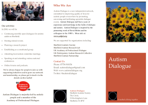 Autism Dialogue flyer 1