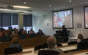 Freda McEwen presenting