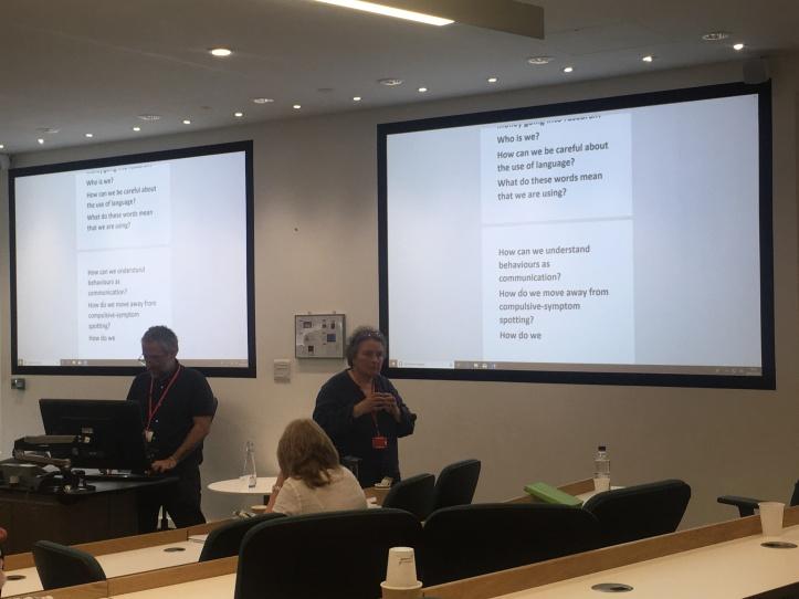 Dr. Gail Simon presenting